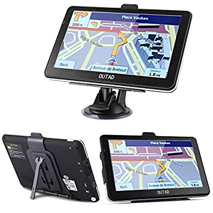 OUTAD-7-Zoll-GPS-Navi-Navigation-fr-Auto-LKW-PKW8GB-Speicher-Lebenslang-Kostenloses-Kartenupdate-Windows-CE-System-Kapazitiver-Touchscreen