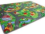 Kinder Spiel Teppich Little Village Grün 200x200 cm