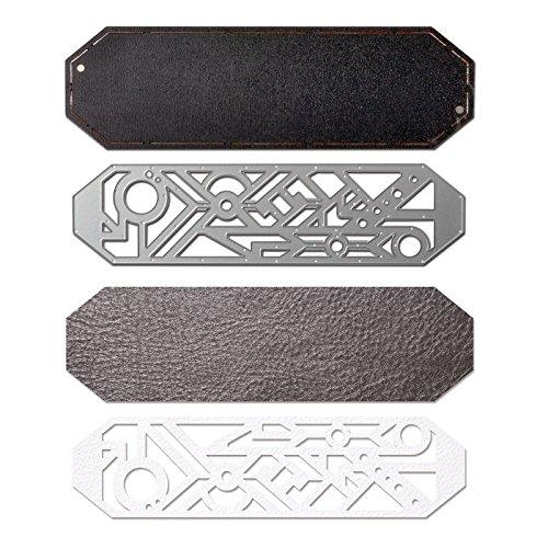 Sizzix 661329Movers & Shapers magnetisch sterben mit Thinlits, Geo Armband Manschette von Katelyn Lizardi (Bigkick Maschinen)