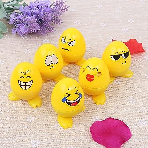 Lugii Cube Cute auto-encreur emoji Expression timbres jouet pour le scrapbooking Décor enfant Cadeau 24pcs en forme d'œuf Plastique Tampons