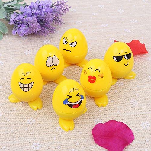 Lanlan Cute selbstfärbende Emoji-Expression Briefmarken Spielzeug für Scrapbooking Decor Kinder Geschenk 24Ei Form Kunststoff (Monster Cookie Kit)