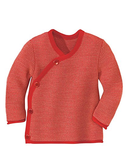 Disana 32535XX - Melange-Jacke Wolle rot/rose (50/56)