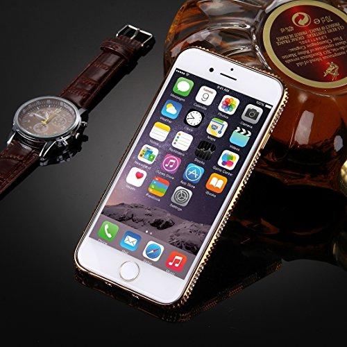 Wkae Case & Cover Pour iPhone 6 &6s Diamant Incrusté Cadre Motif Electroplating Housse de protection TPU ( SKU : IP6G1860A ) IP6G1860B