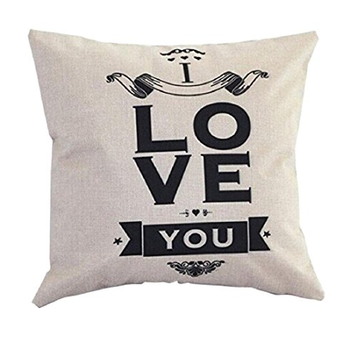 Tongshi Sofa Bed Home Decoration Festival Pillowcase Cushion Cover (F)