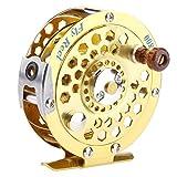 #10: Zibuyu 1 Axis Fly Fishing Reel High Strength Metal Fly Fishing Wheel Tackles Gold