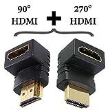 EXINOZ HDMI Adapter Set (90 Degree and 270 Degree)