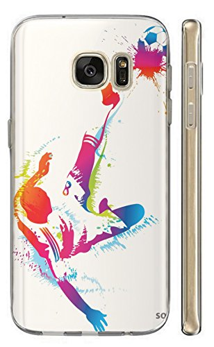 Hülle für Samsung Galaxy A5 2016 Hülle Softcase TPU Handyhülle für Samsung A5 2016 Cover Backkover Schutzhülle Slim Case (1522 Fussballer Fallrückzieher Abstract)