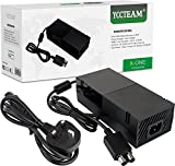 Xbox One Power Supply Brick,[ENHANCED QUIET VERSION] AC Adapter Power Cable Charger Cord Replacement Kit for Xbox One Auto Voltage 100-240V, Black