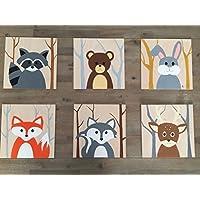 Kinderzimmer Wandbilder aus Holz und handbemalt