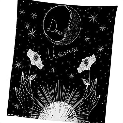 Lorsoul Tapisserie européenne Divination, Tapisseries Murales Hanging, mystérieux Accueil Bedroon Décor - Fleurs DE Nuit