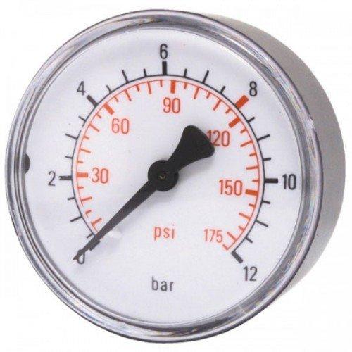 Druckluft Manometer 50 mm 0 - 10 bar mit Außengewinde, hinten 1/8 Zoll, 42221