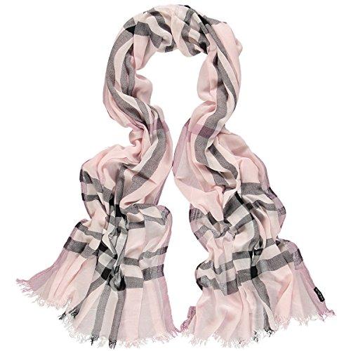 FRAAS Damen Schal 623618 Rosa (Light Rose 410), Herstellergröße: One Size