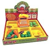 Brigamo 8323 - Marktstand Kinder Kaufladen mit Kasse, Spielzeug Obst und Gemüse