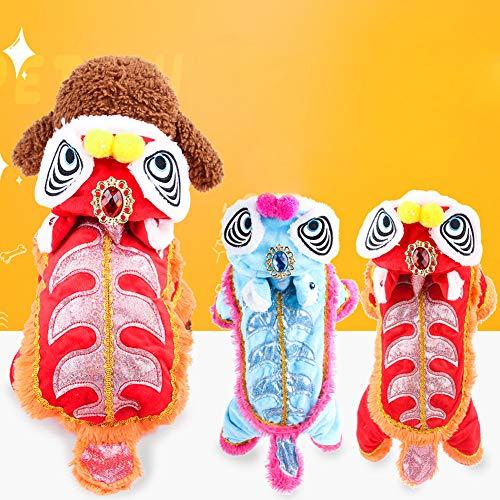 (Danigrefinb Hundekostüm mit Kapuze und Löwe, warm, für den Winter)