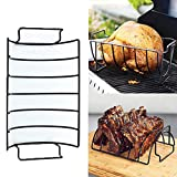 Reversible Roasting/Rib Rack Non-Stick Stainless BBQ Tools Accessories