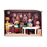 Miniatur-Zündholzschachtel Uhrmacher - Dregeno Erzgebirgische Holzkunst - Artikel 028/158