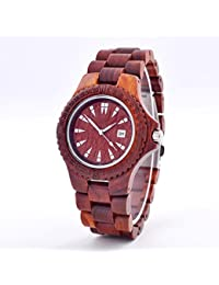 Sándalo hecho a mano del reloj de madera reloj femenino del reloj del partido del ocio de la tabla femenina del equipo del verano