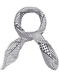 sourcingmap Women's Stain Print Square Scarves Kerchief Neck Scarf White Dots