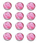 Hosaire 12PCS/Lot Joli Bougies en Forme Rose idéal pour Demander La Main de Votre Amour-Rose