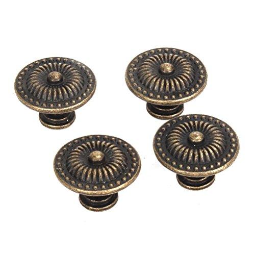 BESTOMZ 4pcs Vintage Schublade Schrank Pull Griff Knopf (Bronze) -
