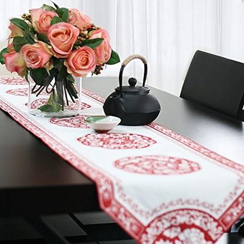 la stampa cinese di cotone pastorale runner/ tovaglia/ casa di cucito/ tovaglia Gioielli/ Gabe-B 34x190cm(13x75inch)