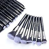 Make up Pinsel Set Anbber 18-tlgs Schminkpinsel Kosmetikpinsel für makellosen Make-up-Look mit Etui aus PU-Leder