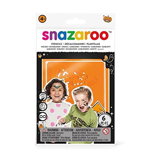 Snazaroo - Plantillas de pintura facial, set de 6, Halloween