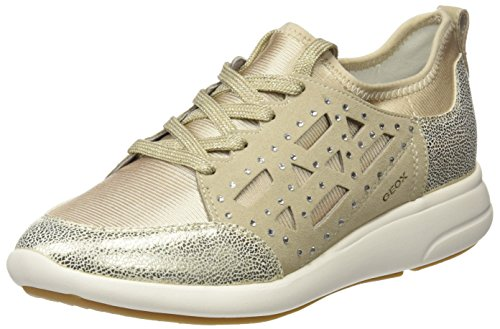 Geox Damen D Ophira B Sneaker Oro (lt Taupe / Lt Oro)