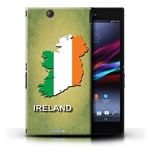 Kobalt® Imprimé Etui / Coque pour Sony Xperia Z Ultra / Lituanie/Lituanien conception / Série Drapeau Pays Irlande/irlandaise
