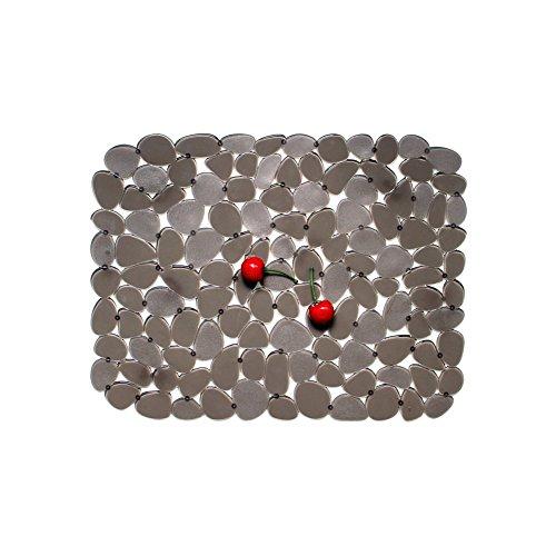 Évier Égouttoir Mat, Protecteur De Tapis D'évier De Cuisine PVC Protège Verre Pebble Brun 30 * 40 Cm