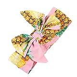 timeracing diseño de fruta flor bebé niñas niños lazo turbante Diadema Accesorios para el pelo multicolor multicolor Pineapple