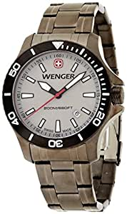Wenger Seaforce Men's Quartz Watch with Grey Dial Analogue Display and Grey Stainless Steel Plated Bracelet 010641107