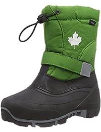 Indigo Canadians Jungen Winter Stiefel Boots 467-185 gefüttert in Grün