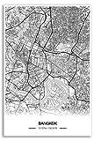 Zulumaps Poster 40x60cm Stadtplan Bangkok - Hochwertiger