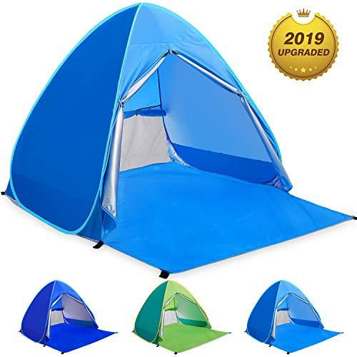 WloveTravel Tente de Plage Bebe Tentes Portable Extérieur pour 2-3 Personnes, Tente Anti UV pour Plage (Bleu)