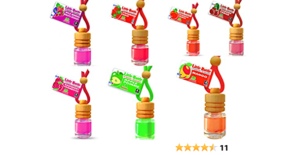 Ld 7 Stück Elegante Duftflakons Fürs Auto Autoduft Lufterfrischer Obstgarten Apfel Erdbeere Himbeere Kirsche Mango Pfirsich Waldbeere Auto