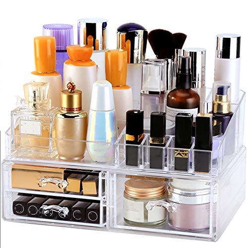 DNNAL Kosmetik Organizer Cosmetic Organizer Dustproof Cosmetic Aufbewahrungsbox Tischdekorationsschublade Art Makeup Rack -