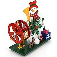 Preisvergleich für Baby-lustiges Spielzeug Holz Riesenrad Schneemann Spieluhr für Geburtstagsgeschenk Home Desktop Dekoration-Schloss im Himmel