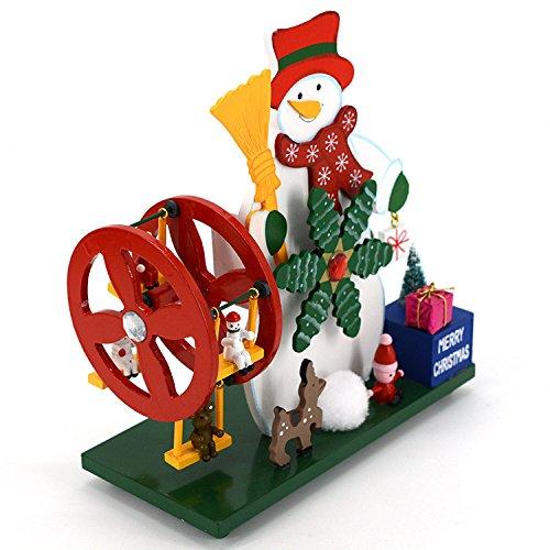 anmutiges Geschenk Holz Riesenrad Schneemann Spieluhr für Geburtstagsgeschenk Home Desktop Dekoration-Schloss im Himmel ()