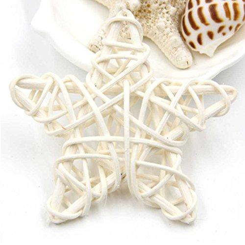 5pcs cinque stelle 6cm rattan treccia vite natale compleanno casa decorazioni per la festa nuziale ornamenti fai da te bianca lufa