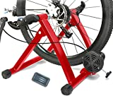 HEALTHLINE Magnetic 5 Varies Resistances Turbo Trainer Stand for Indoor Bicycle Bike, 26 - 27 inches (Red)