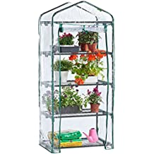 Unibos 4 Tier Mini Greenhouse Cold Frame Green House Garden Outdoor Plants Growing NEW