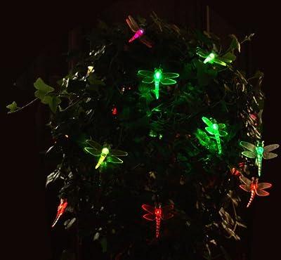 20 LED Solar Lichterkette Solarlichterkette Libellen mit Farbwechsel Solarlampe Solarleuchte Partybeleuchtung Lichteffekte von Multistore 2002 auf Lampenhans.de