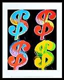 Andy Warhol Four Dollar $4 1982 Poster Kunstdruck Bild im Alu Rahmen schwarz 42x34cm - Germanposters