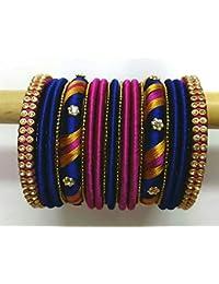 Sugumar Fancy Silk Thread Bangle Set For Women (Size: 2.4, Sugumar Fancy Silk Thread 1--2.4)