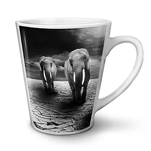 Düster Elehpant Aussicht Traurig NEU Weiß Tee Kaffe Keramik Latté Tasse 12 oz | Wellcoda