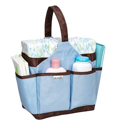 Munchkin Portable Diaper Caddy-Aqua