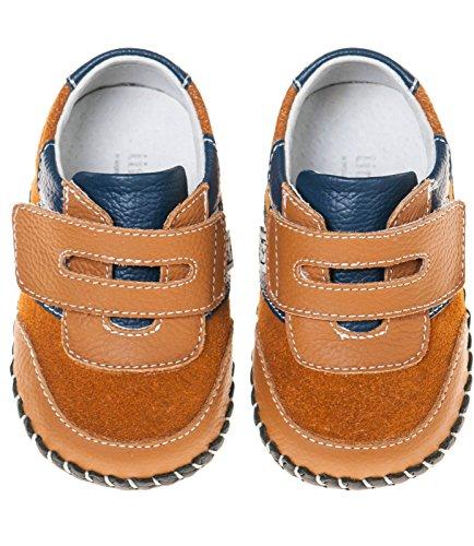 Petit Bleu Agneau Chaussures Marchettes Pour Bébés Chaussures Espadrilles Fermeture velcro 3121 brun - Marron, 6-12 mois Marron