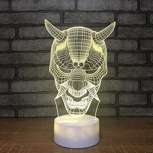 rne bunte änderung monster kopf led schlafzimmer dekor tischlampe usb nacht schlaf beleuchtung kinder geschenke ()
