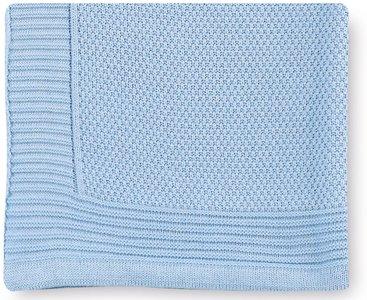 Pirulos 28012320 - Toquilla tricot texturas, 80 x 110 cm, color azul